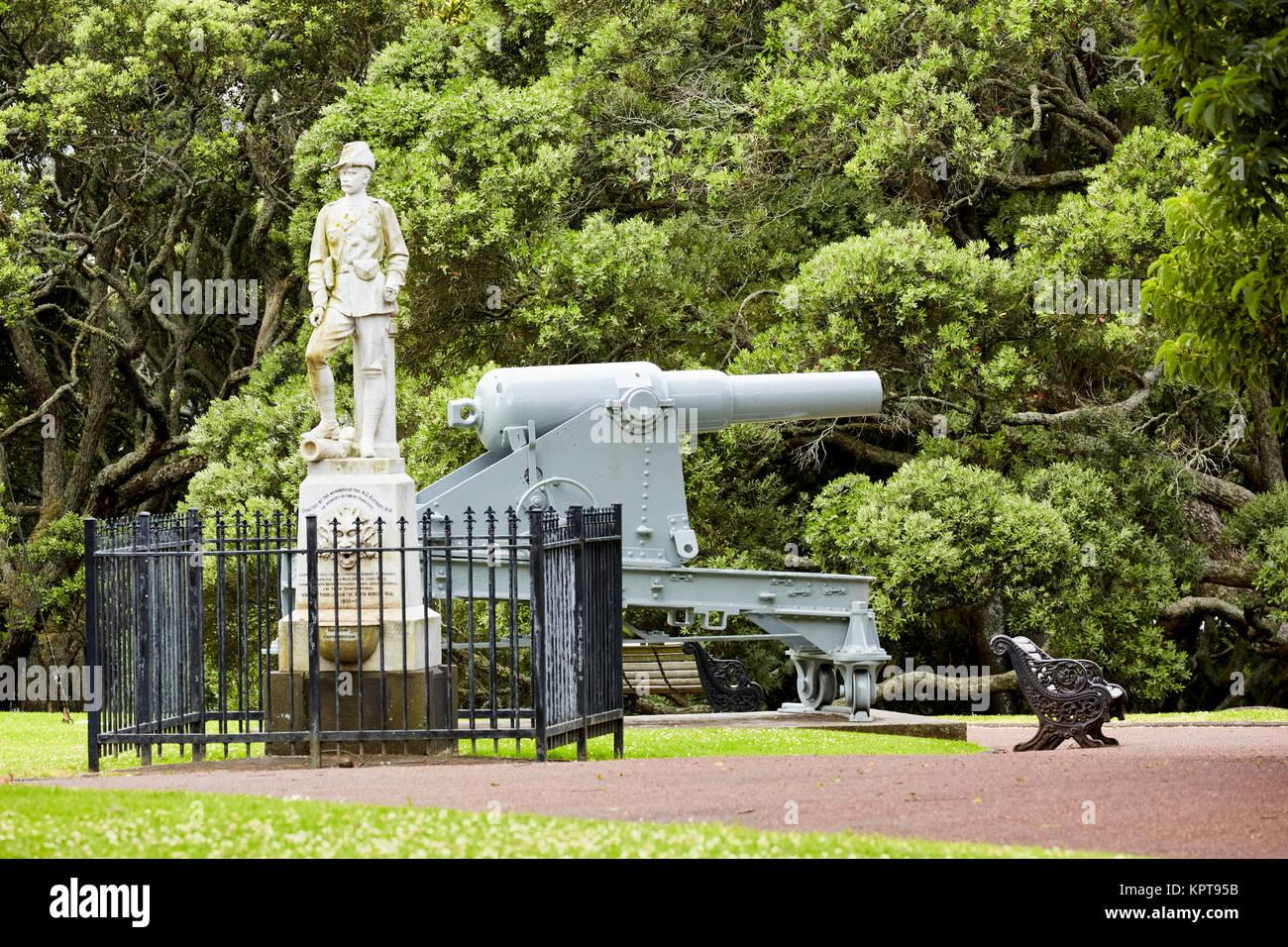Boer War Memorial, Albert Park, Auckland, New Zealand - Stock Image