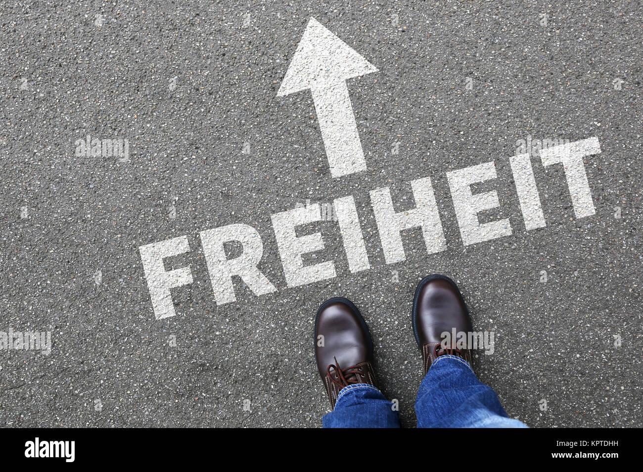 Freiheit Frei Sein Unabhängigkeit Unabhängig Business Konzept Stock