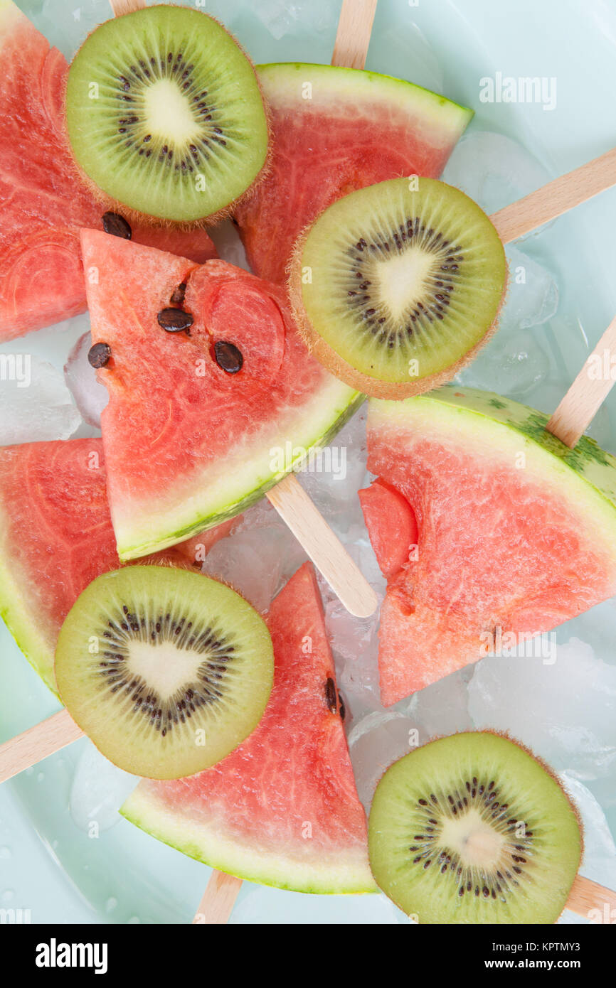 colorful fruit lolly - Stock Image
