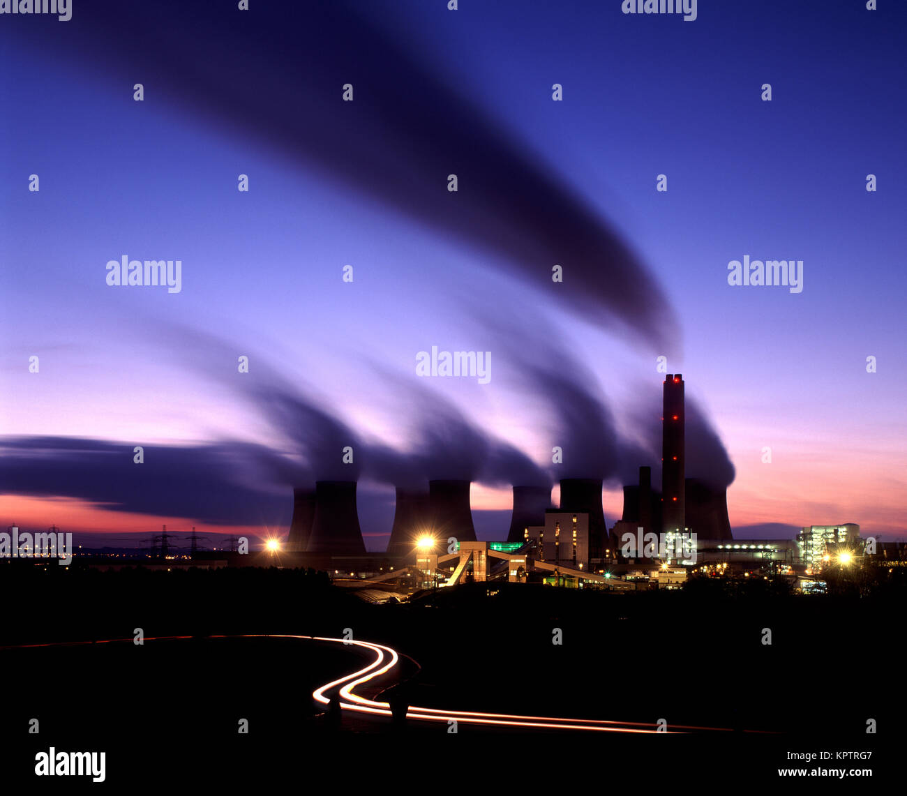 Coal fired Power Station, Ratcliffe on Soar, England, UK - Stock Image