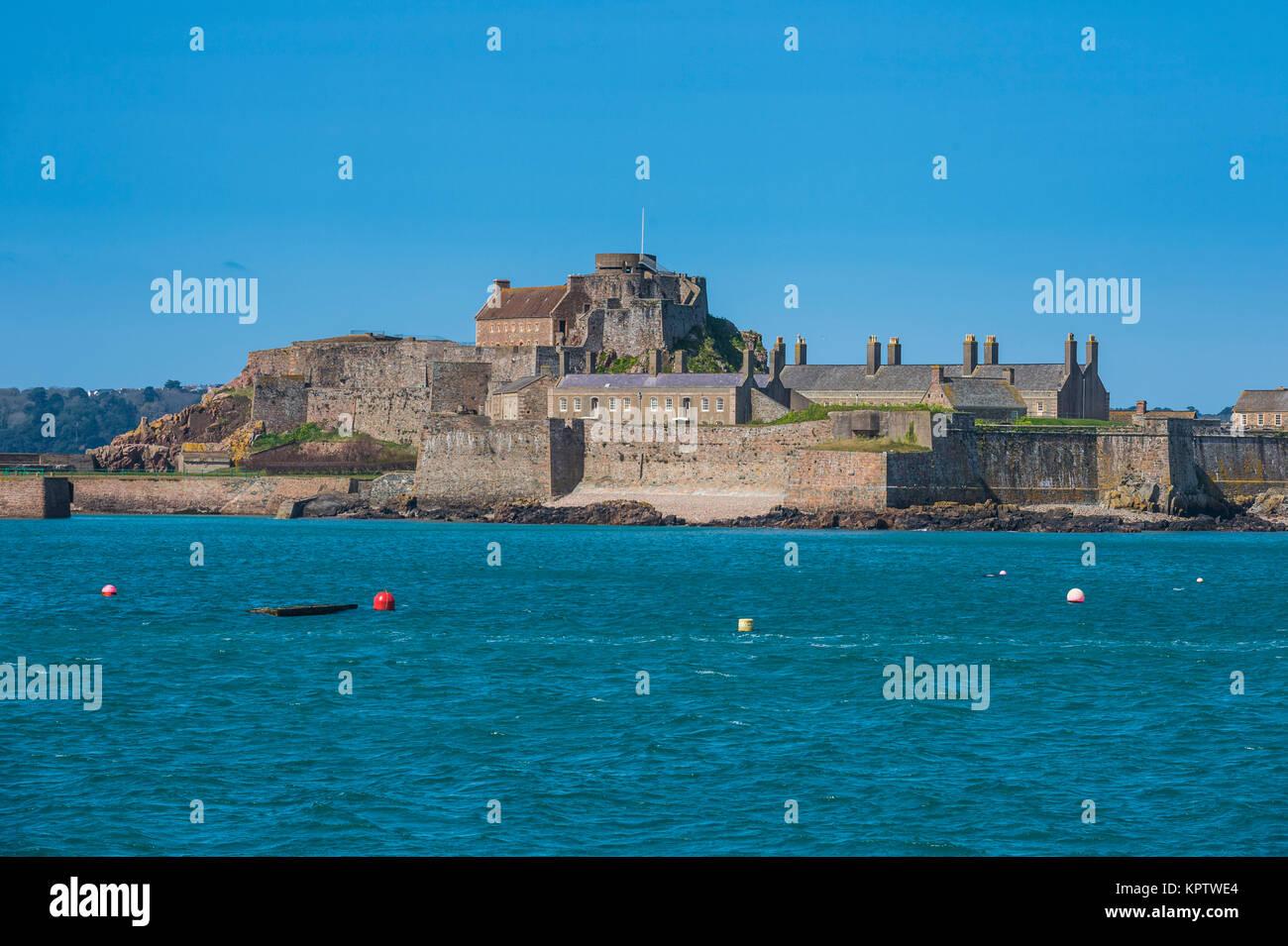 Elizabeth castle, St. Helier, Jersey, Channel Islands, United Kingdom - Stock Image