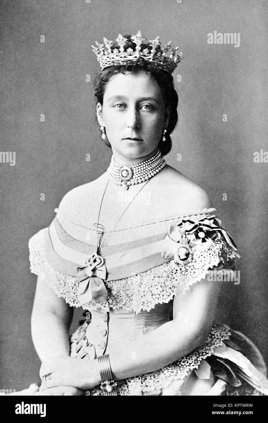 Alice, Princess Louis of Hesse Princess Alice of the United Kingdom, Alice Maud Mary (25 April 1843 – 14 December - Stock Image
