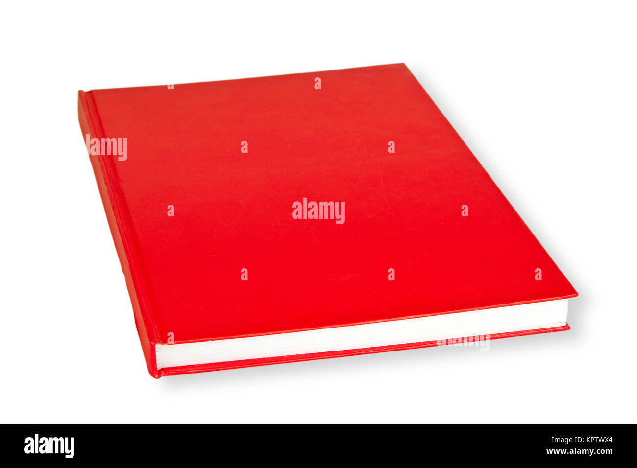Rotes Buch freigestellt auf weissem Hintergrund Stock Photo