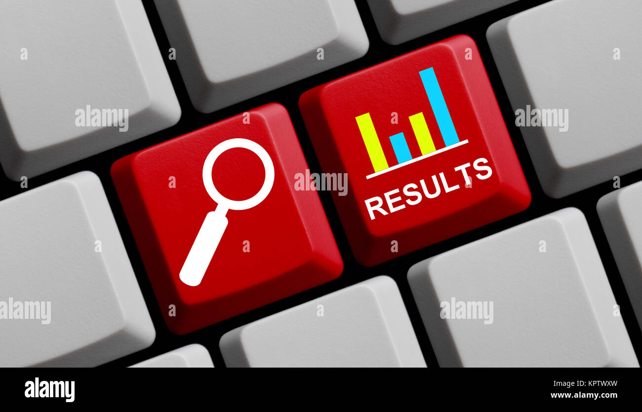 keyboard results - Stock Image