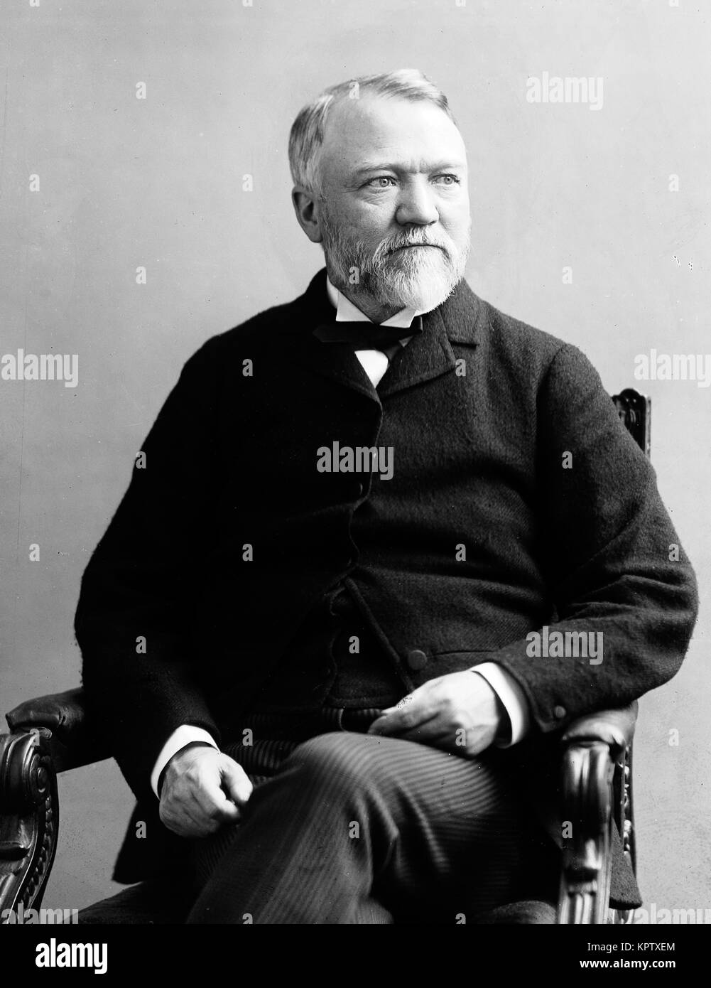 Andrew Carnegie, Scottish-American industrialist and business magnate - Stock Image