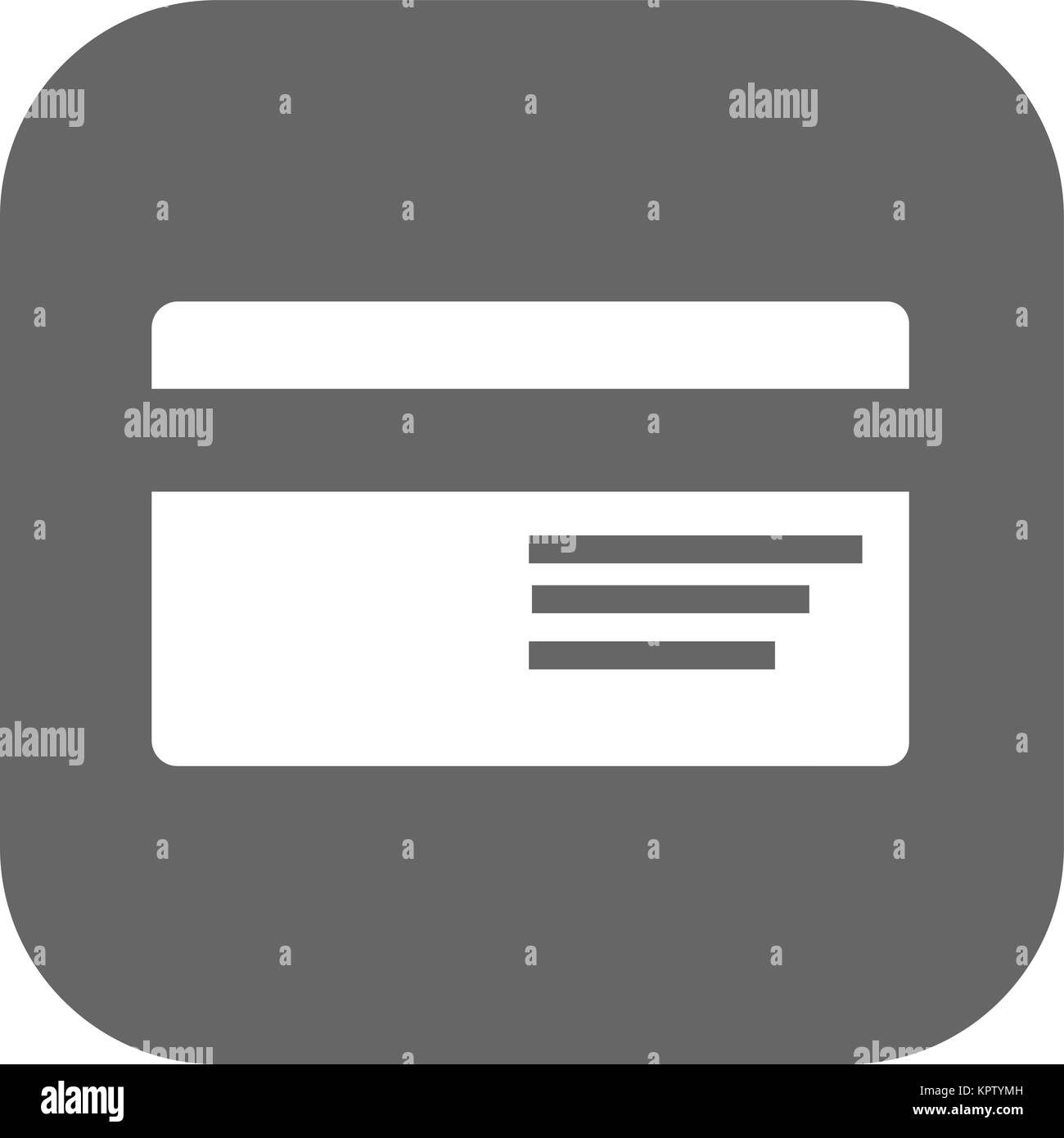 Credit card flat vector icon - Stock Vector
