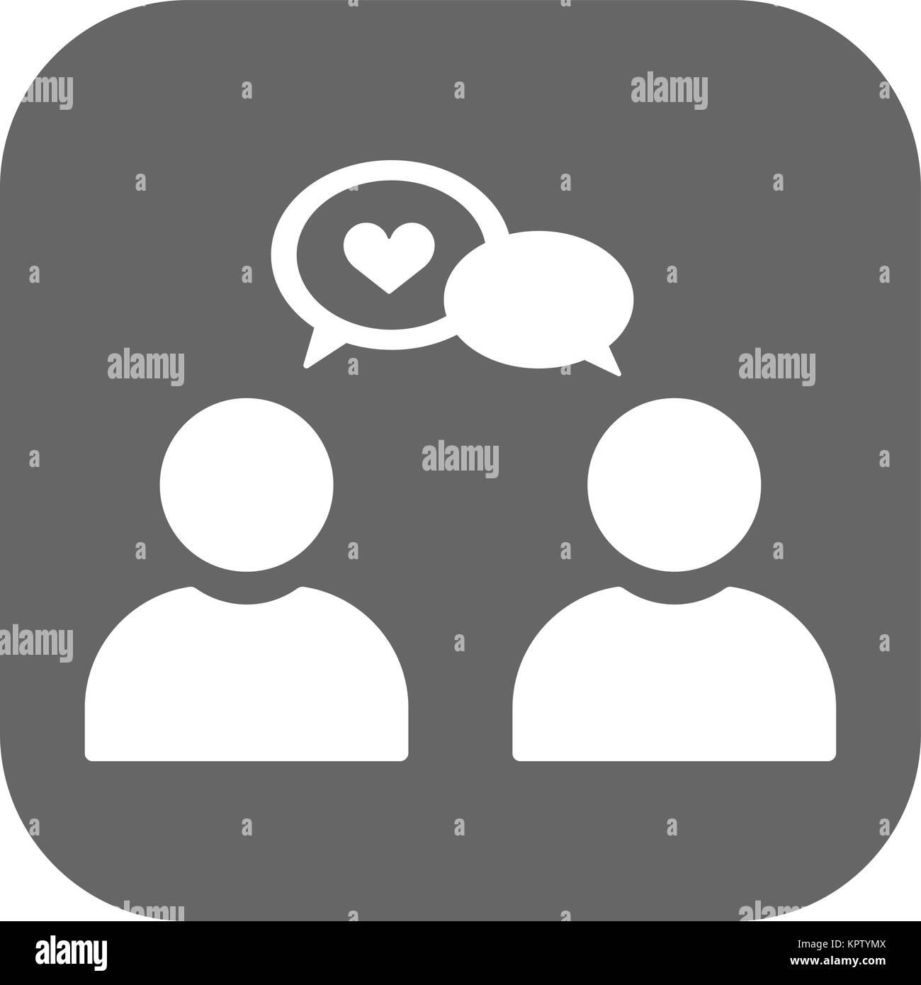 Poster Boy and girl dialog speech. - Stock Vector