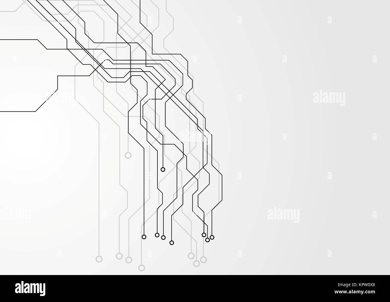 Grey hi-tech circuit board background Stock Photo: 168965280 - Alamy