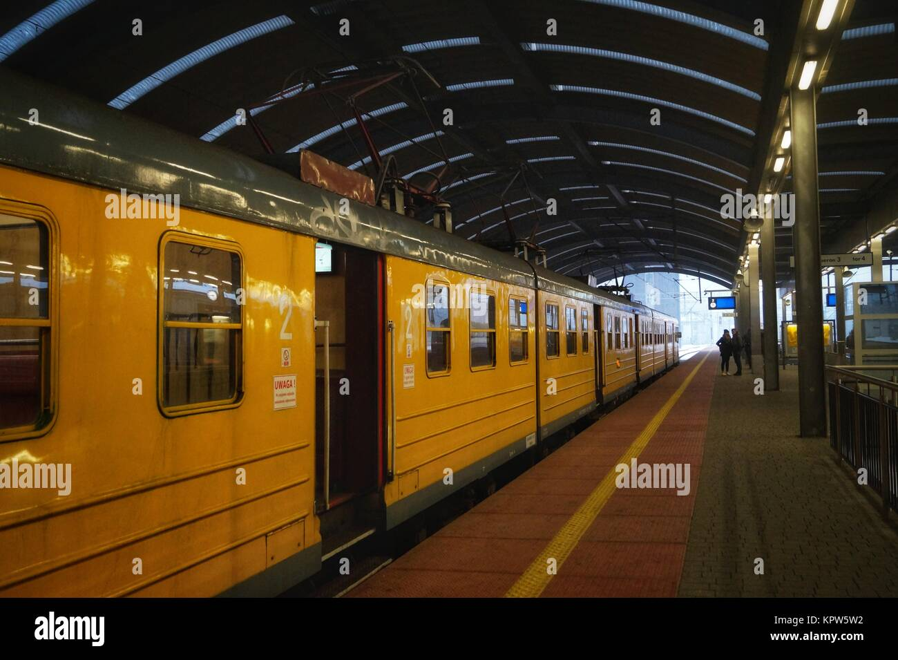 Metal travelling, the Katowice railway station - Stock Image