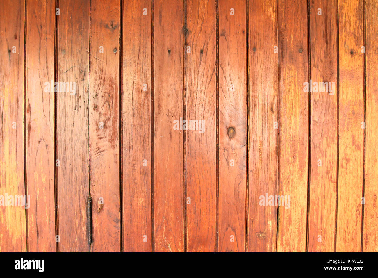 Old wooden wall, background photo texture - Stock Image