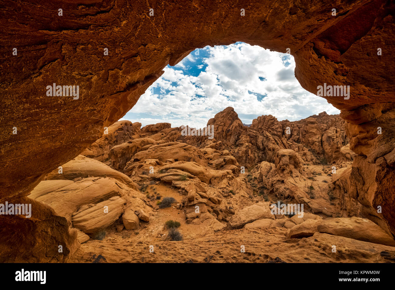 Exploring Valley of Fire Nevada State Park - Stock Image