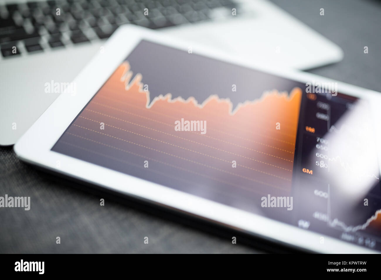 Financial data analysis concept - Stock Image