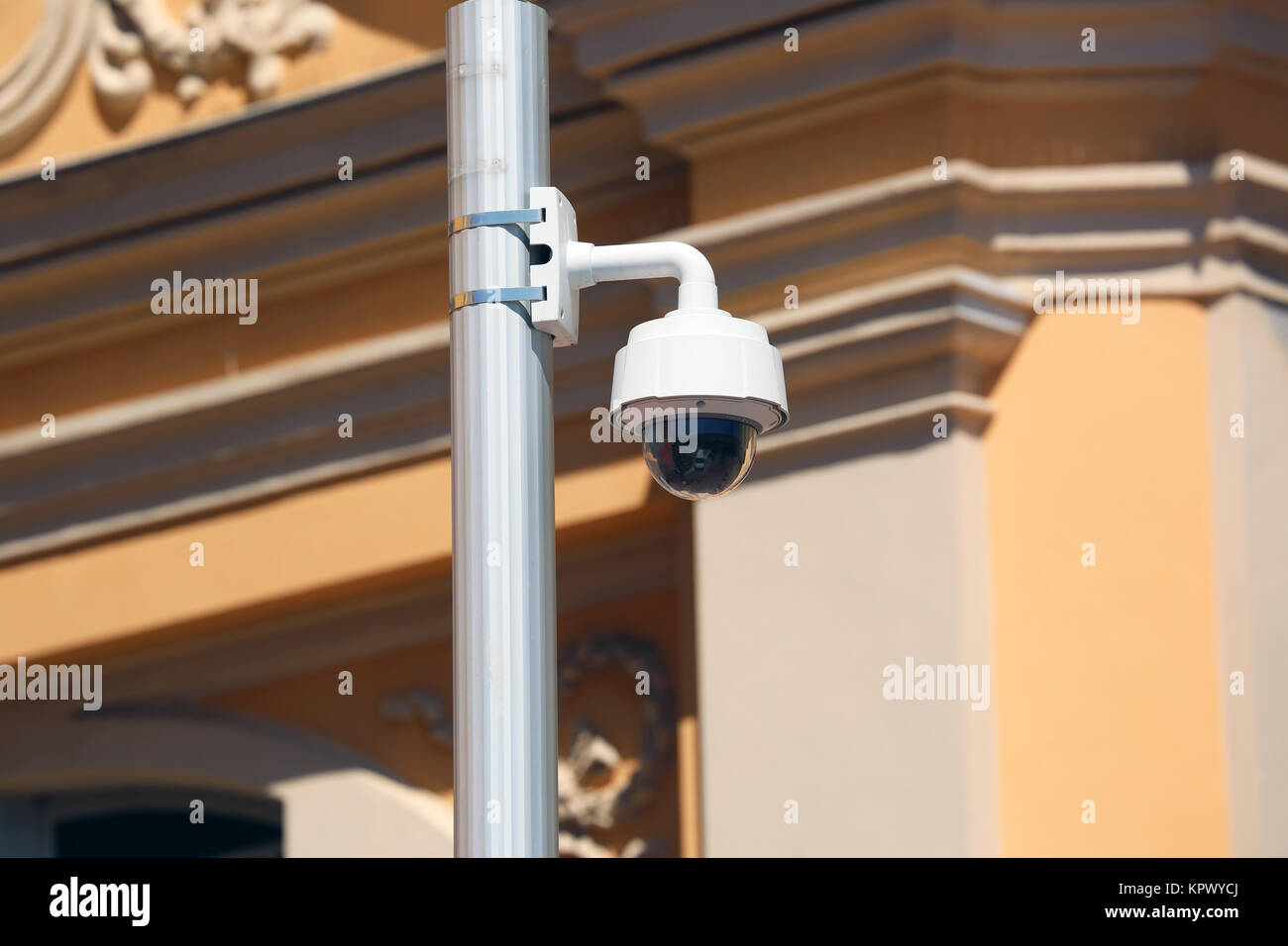 Dome Type Camera in Nice, France - Stock Image