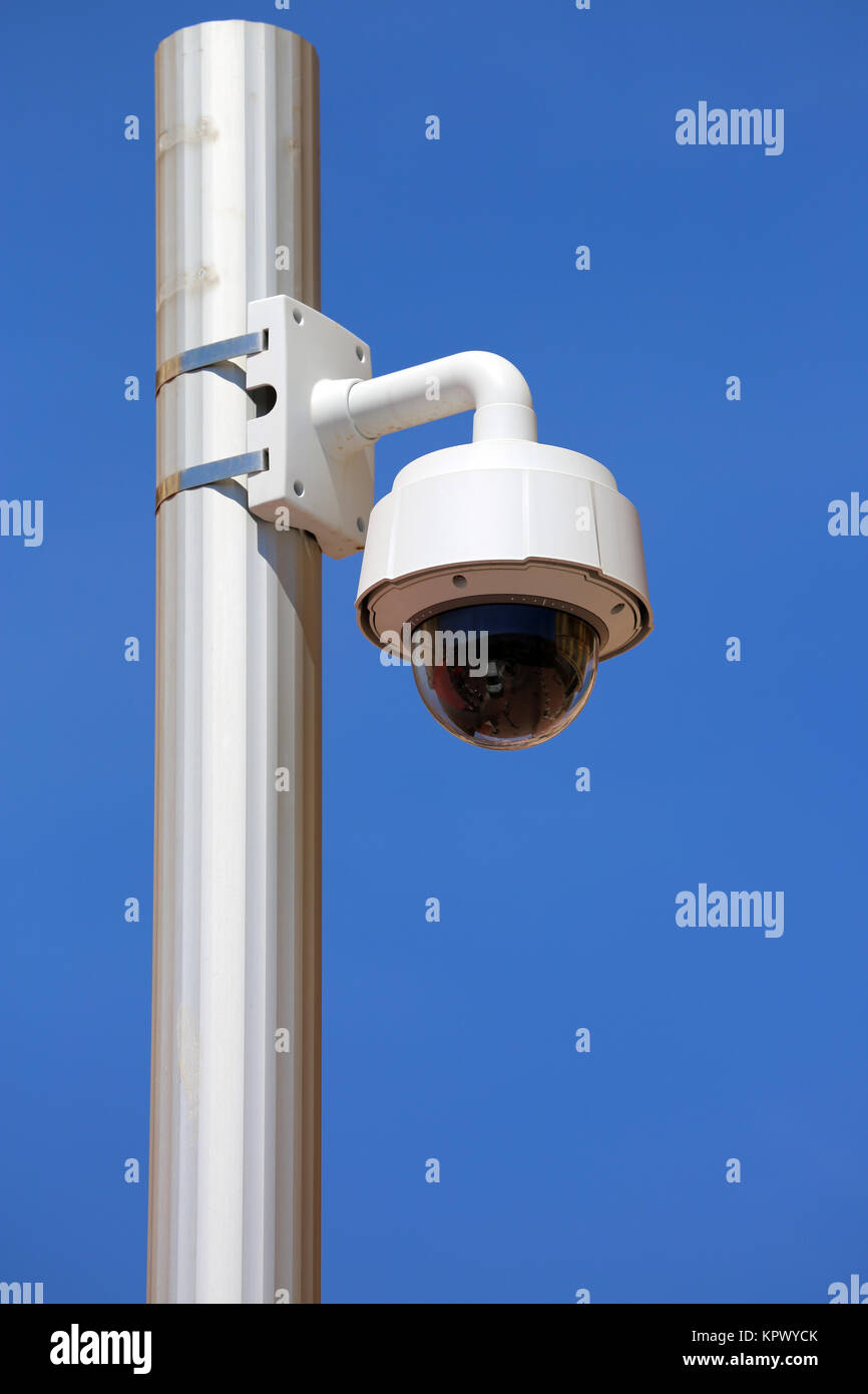 Dome Type Camera in Nice - Stock Image