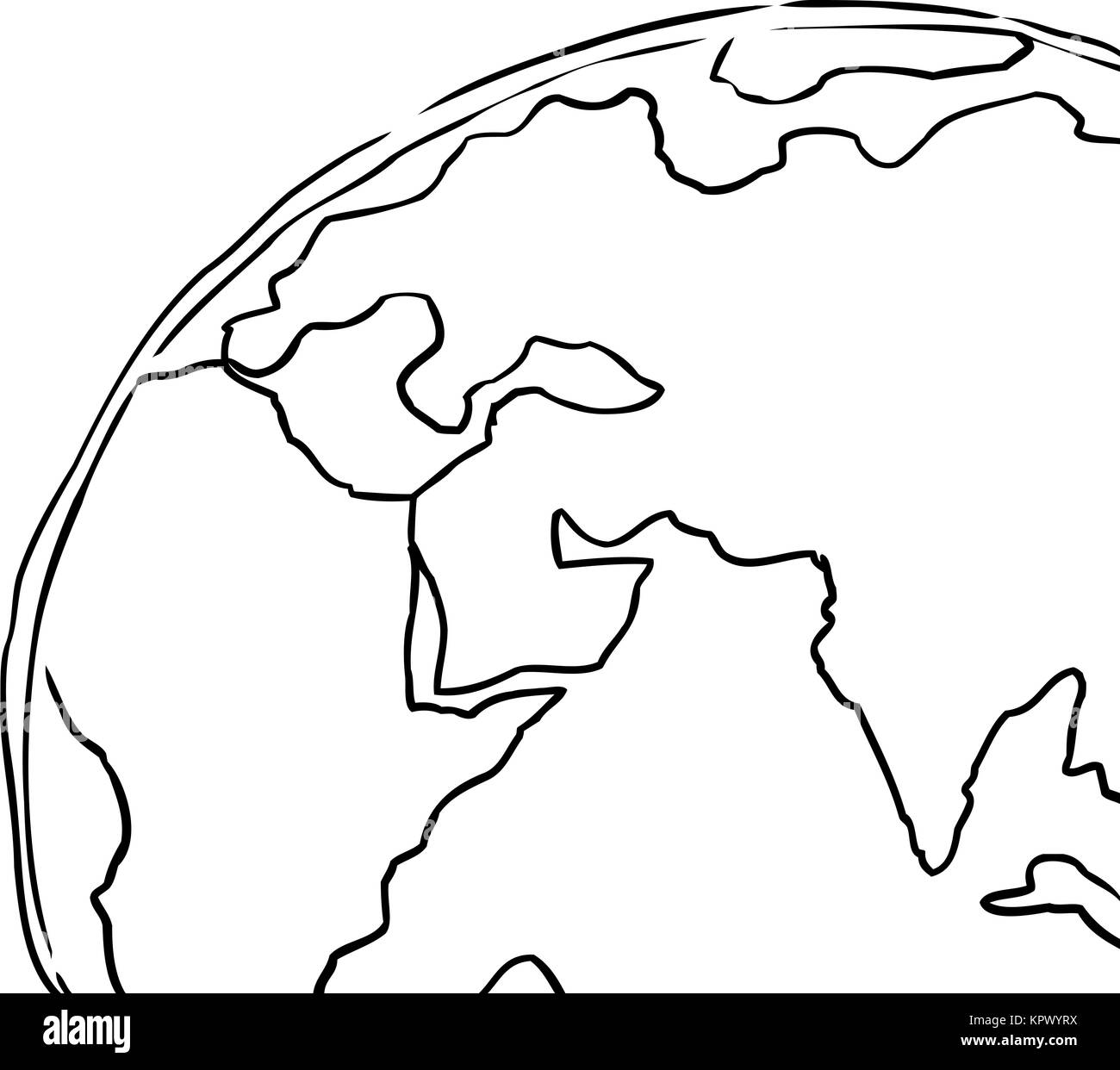 Planet Earth Drawing Black And White Stock Photos Images Alamy