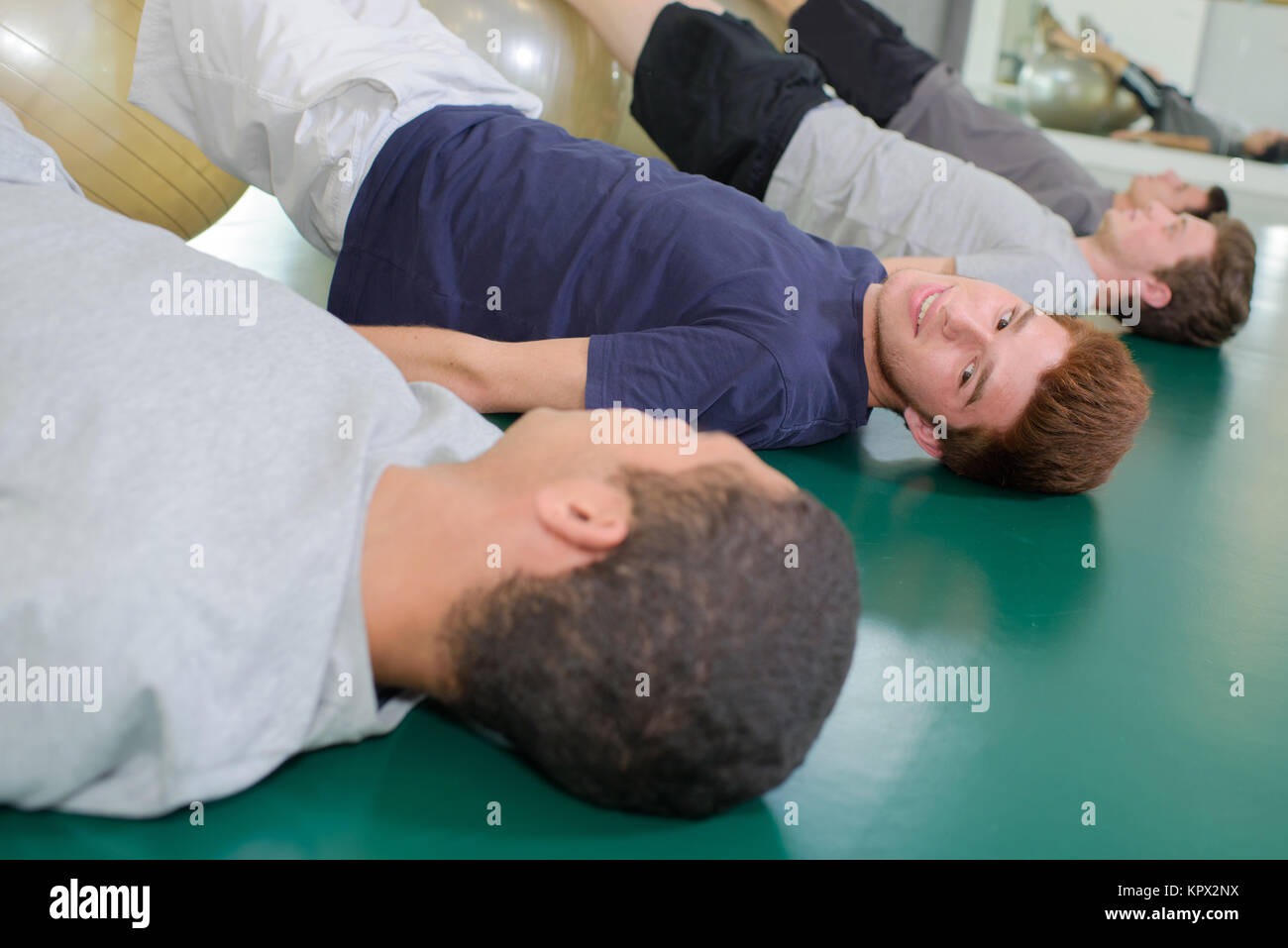 boys at the gym - Stock Image