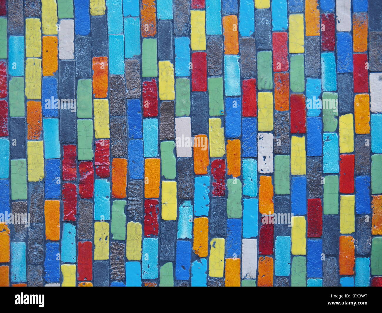 Colorful Wall Tiles Background - Stock Image