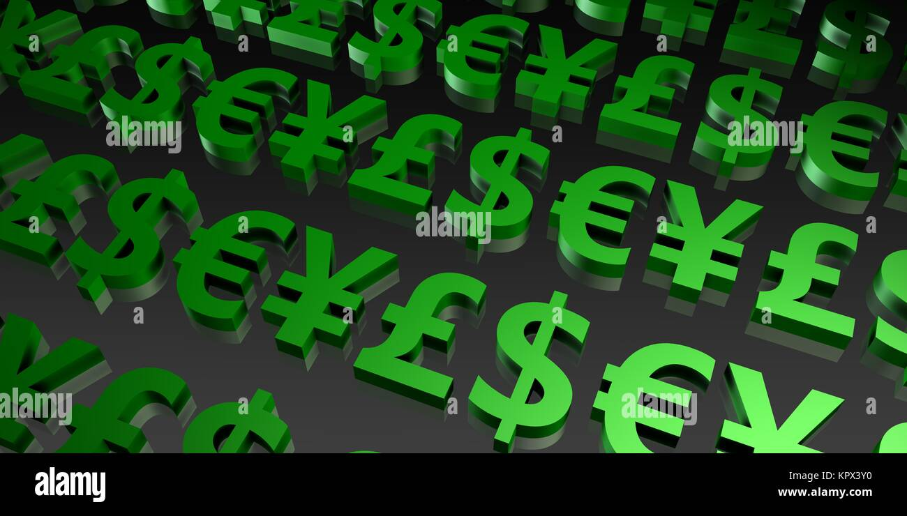 Global Currencies - Stock Image