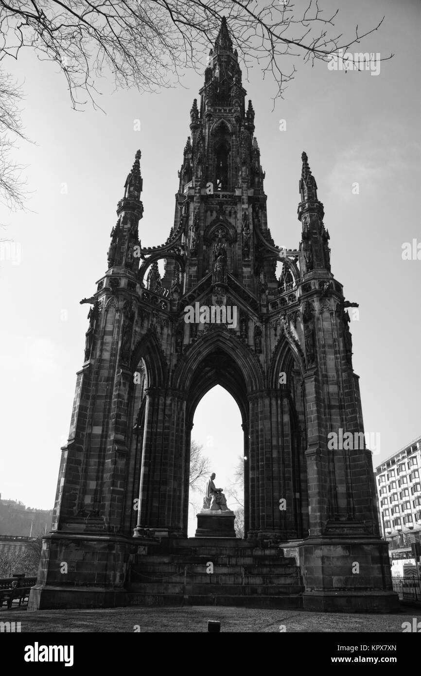 Scott monument - Stock Image