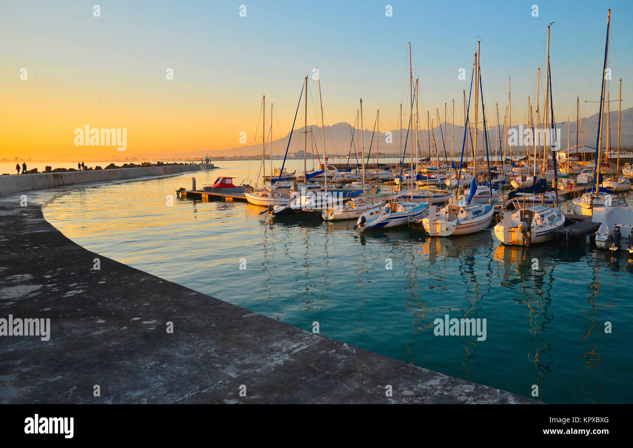 Gordons Bay in the Western Cape is one of the most beautiful spots on earth boasting world heritage site status, Stock Photo