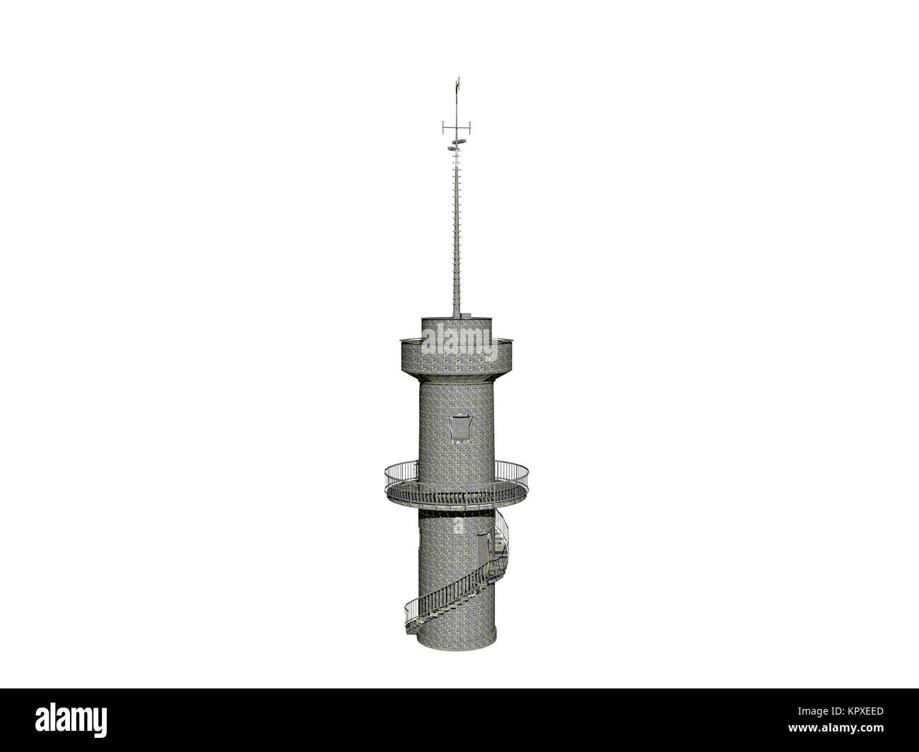 optional tv tower Stock Photo