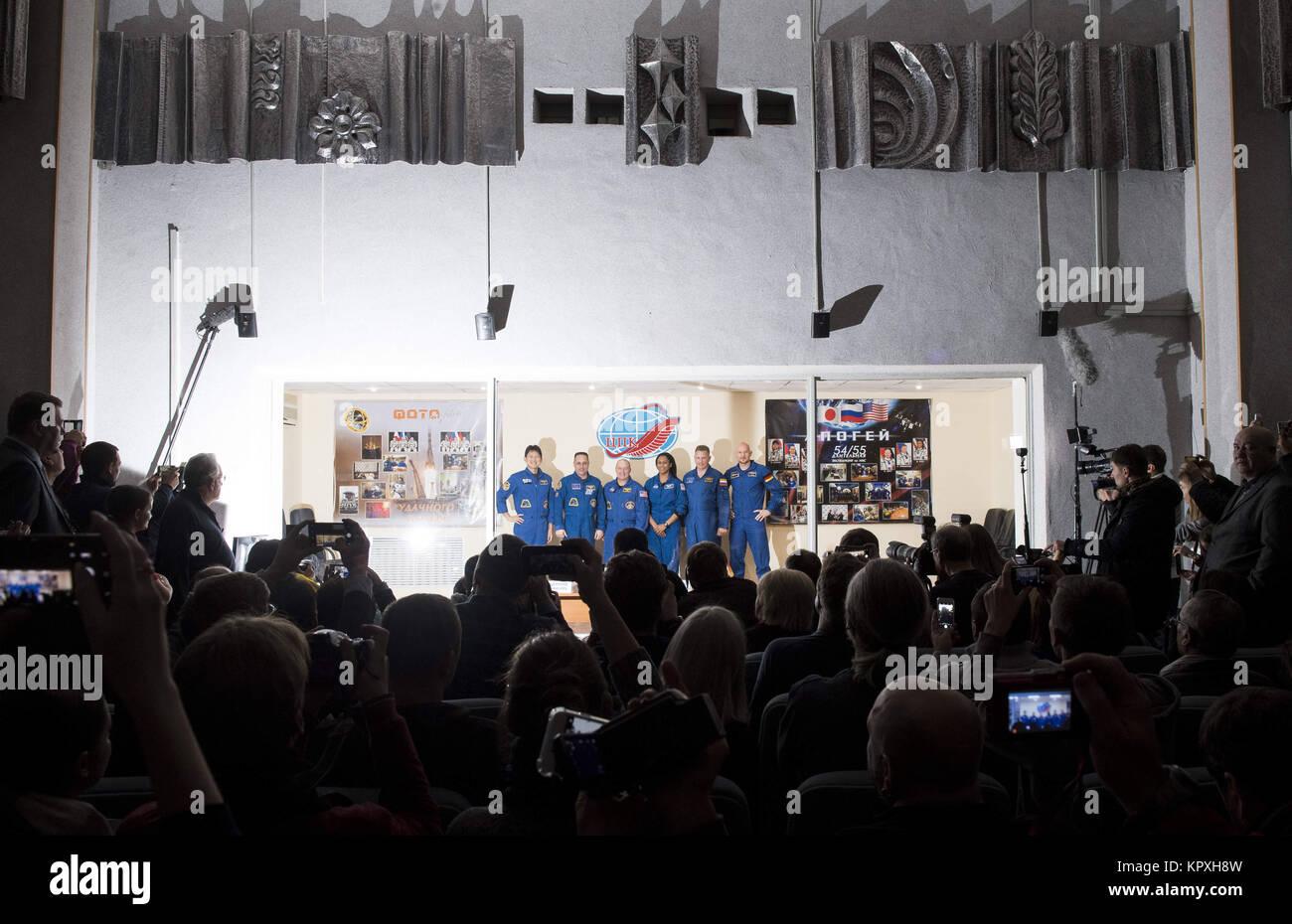 Baikonur, Kazakhstan. 16th Dec, 2017. Expedition 54 prime crew members flight engineer Norishige Kanai of Japan - Stock Image