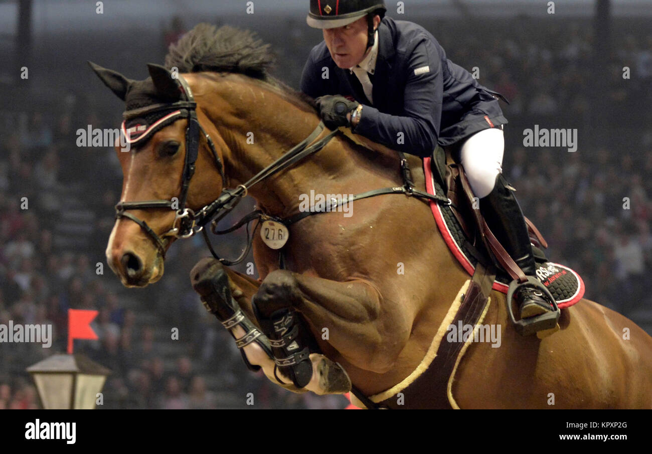 London, UK. 17th Dec, 2017.  London Olympia International Horse Show The Longines FEI World Cup London Michael Whitaker Stock Photo