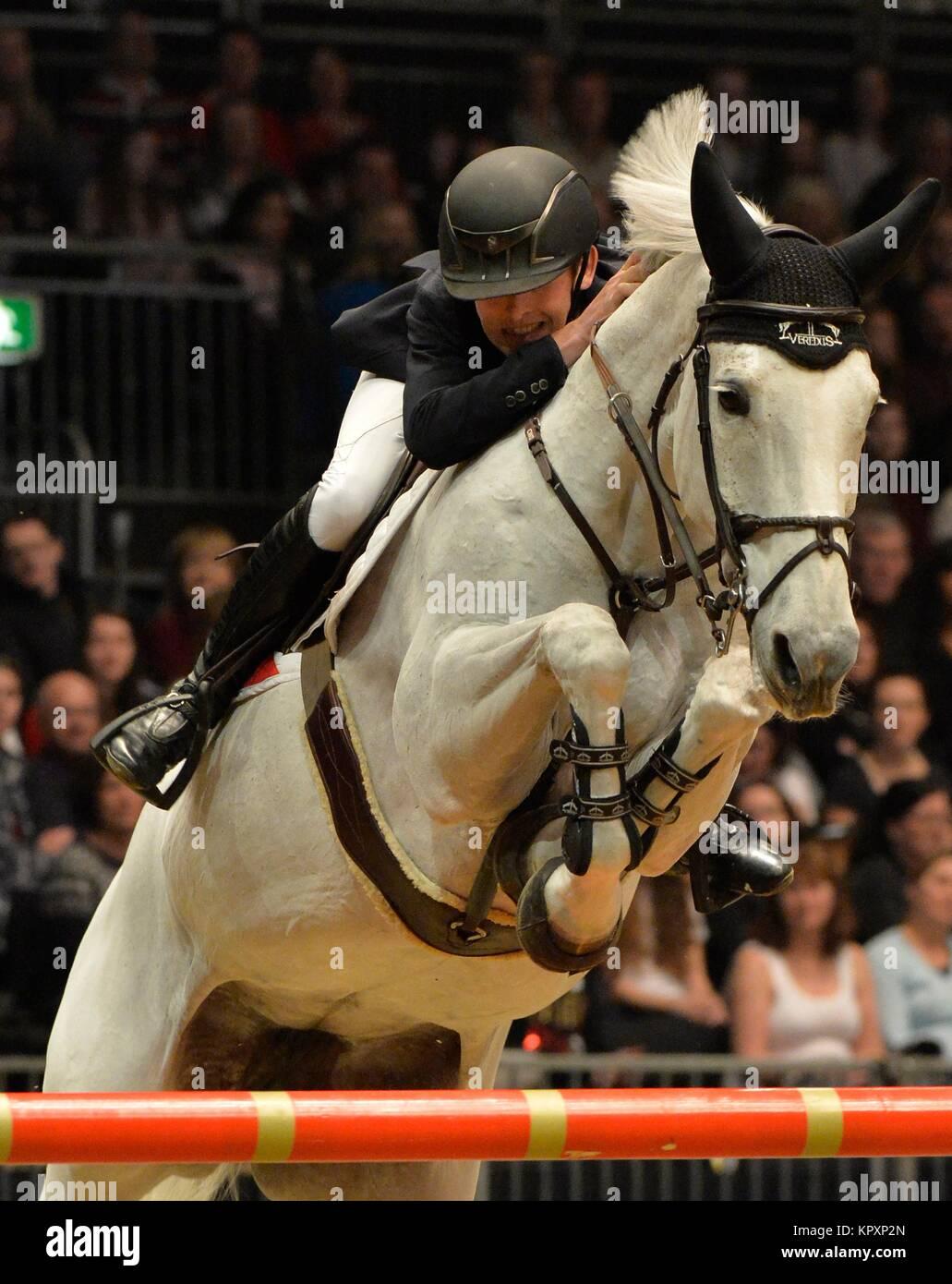 London, UK. 17th Dec, 2017.  London Olympia International Horse Show The Longines FEI World Cup London Bertram Allen Stock Photo