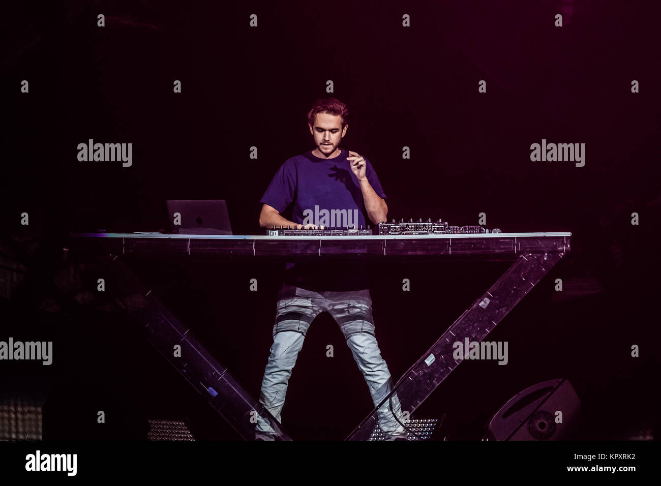 Tampa, USA. 16th Dec, 2017. Zedd performing at 93.3 FLZ's iHeartRadio Jingle Ball on December 16, 2017 at Amalie - Stock Image
