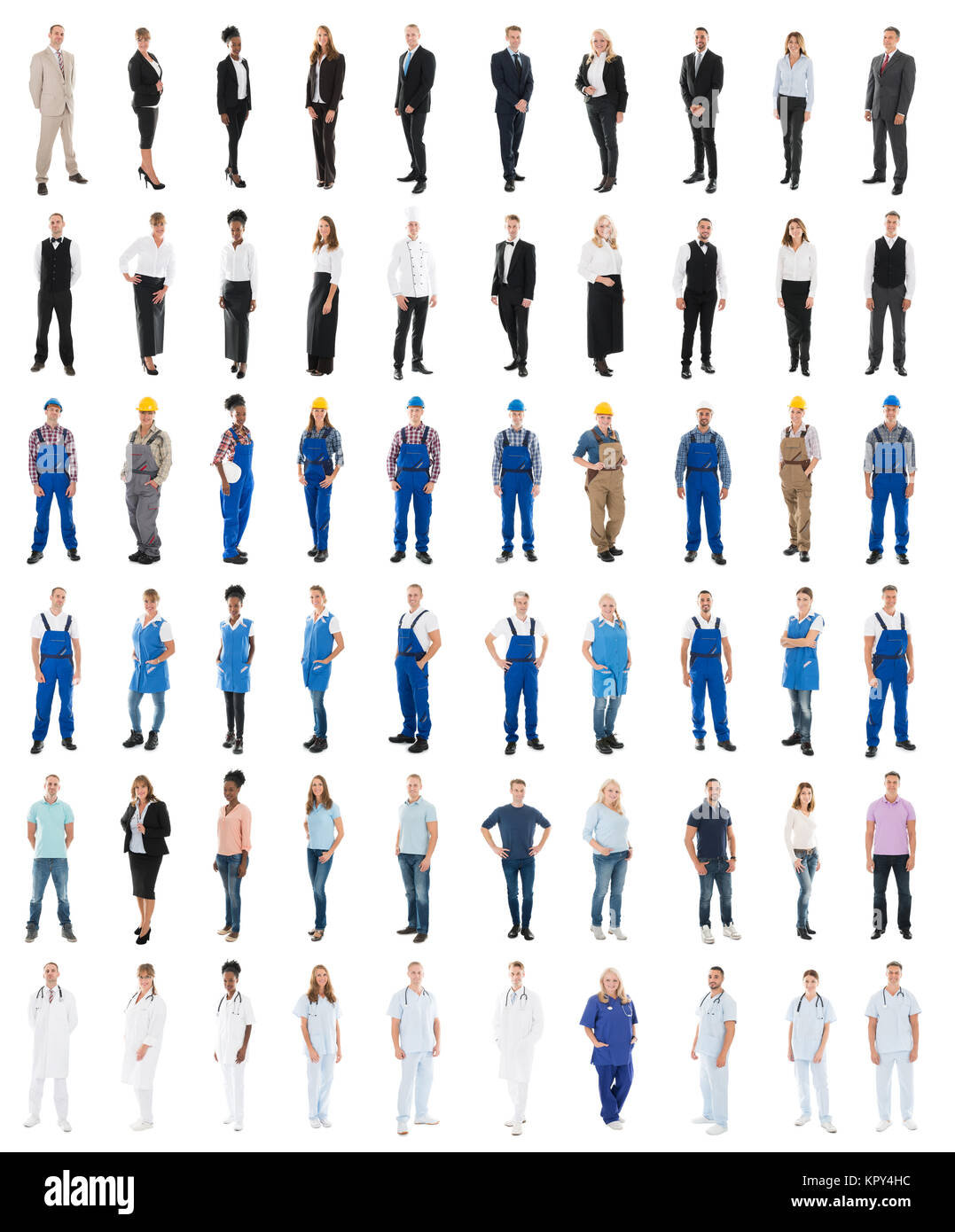 Set Of People With Various Occupations - Stock Image