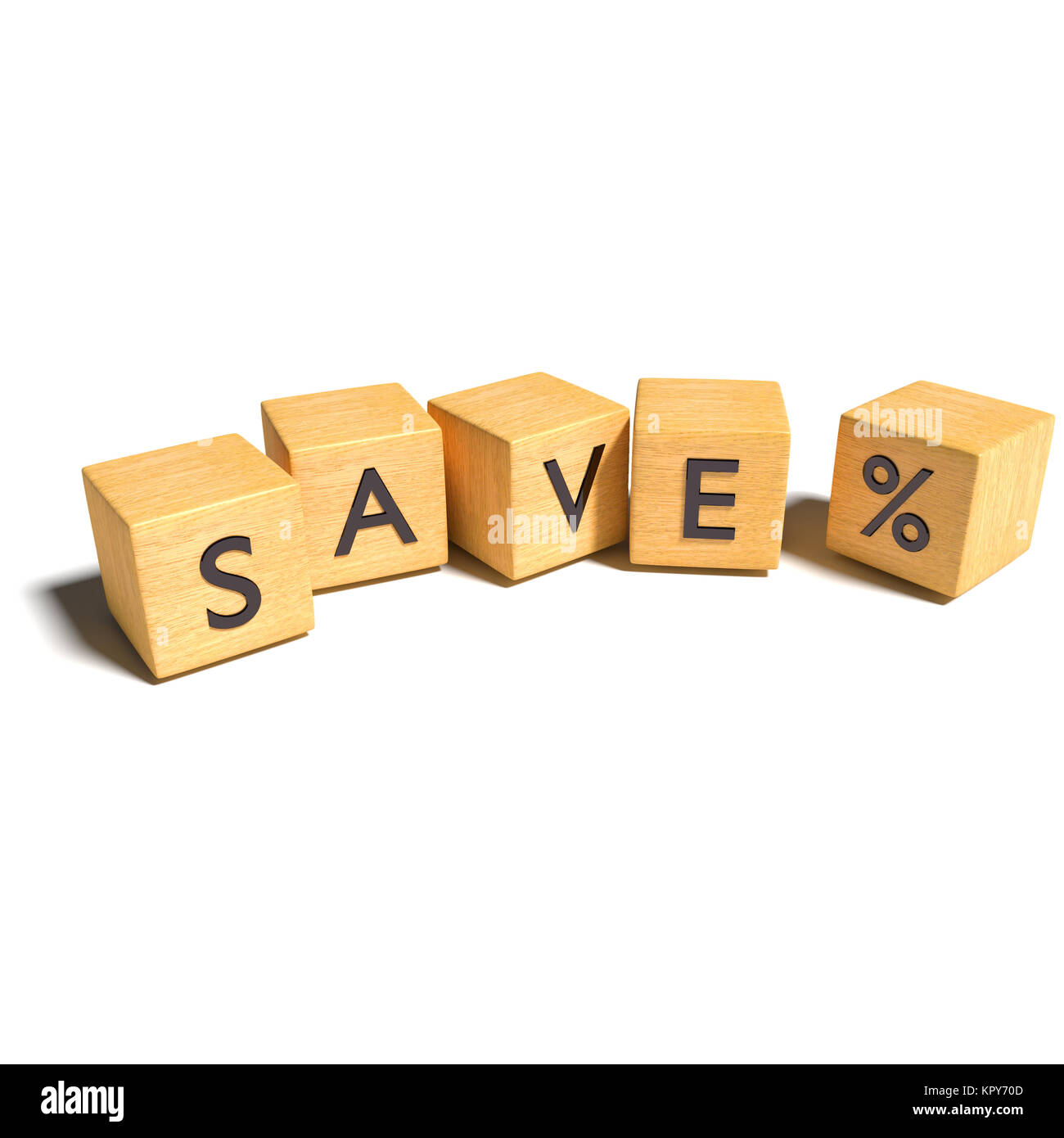 save cubes with percents - Stock Image
