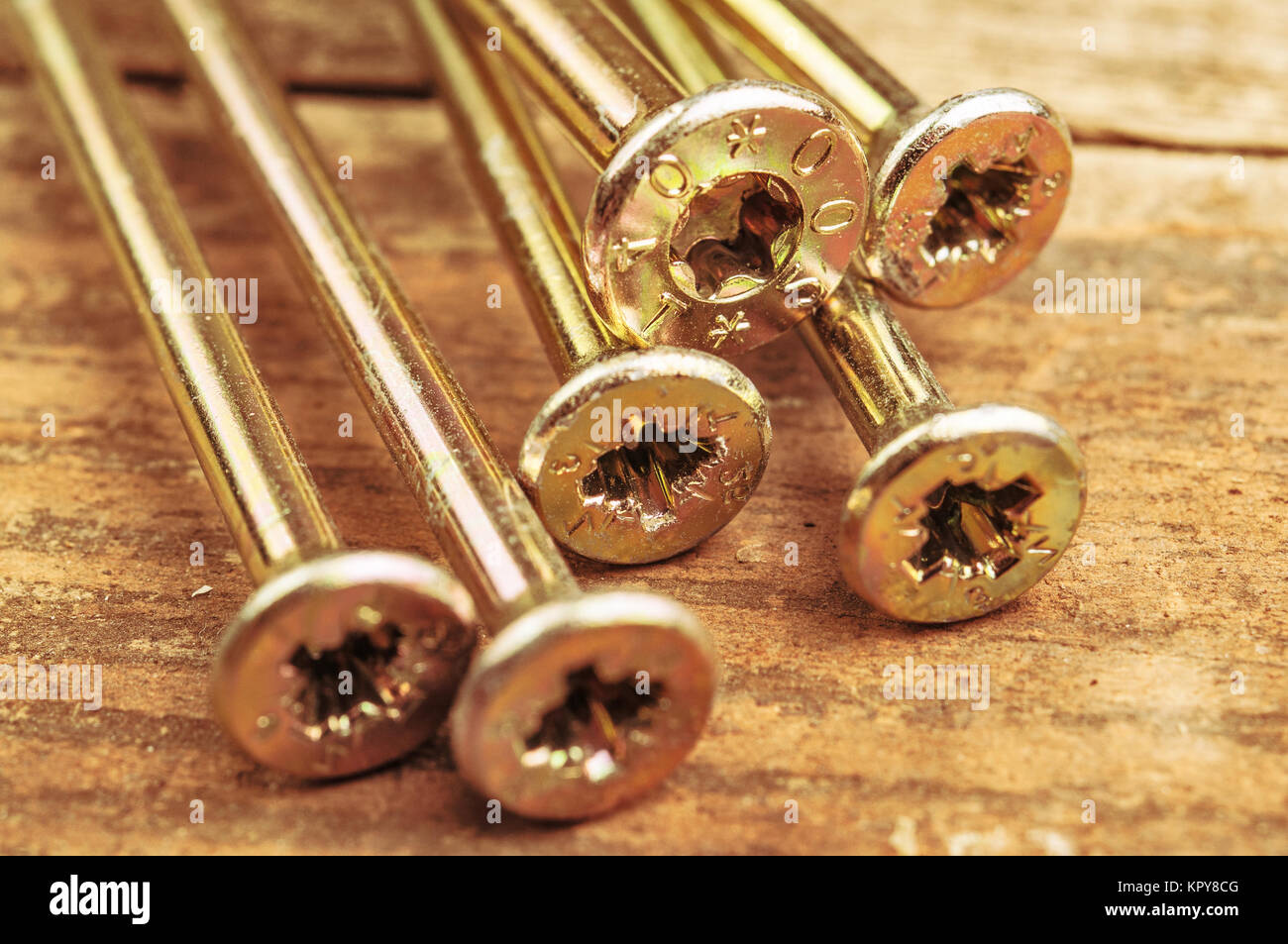 Closeup photo of screw top hats - Stock Image