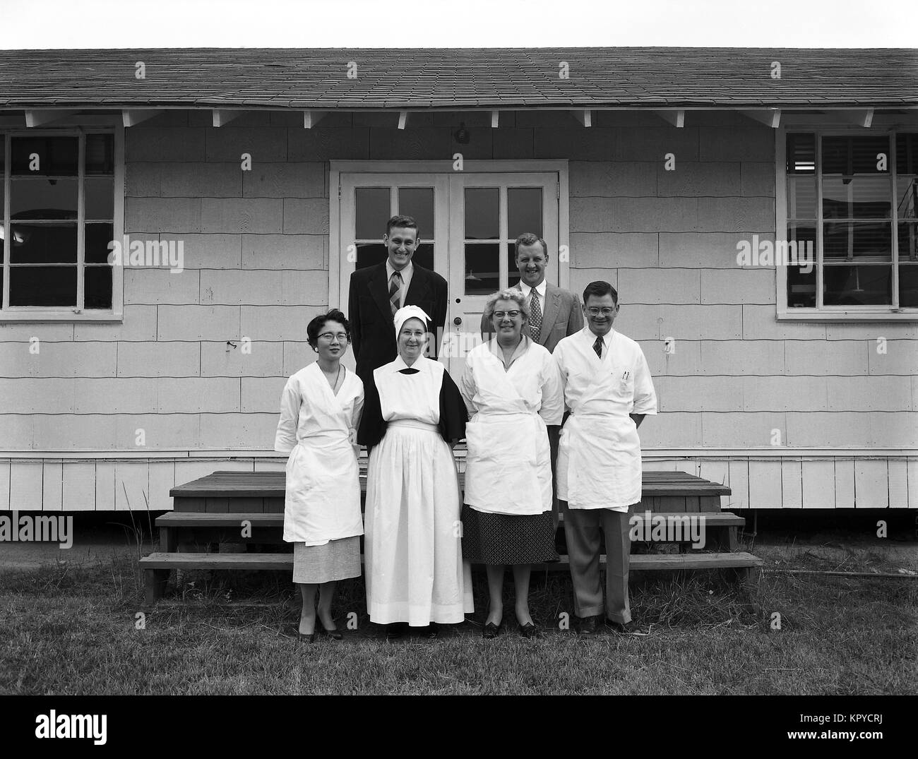 This is a photograph of the CDC, 'Serology of Syphilis', class members of 1955, 1973. Syphilis is a complex - Stock Image