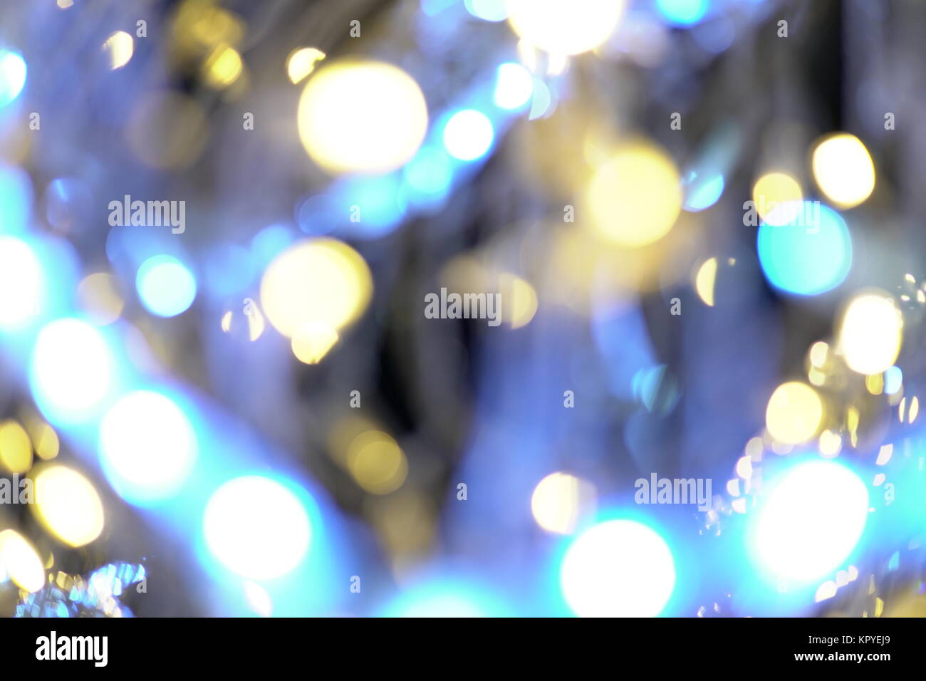 Garland lights Bokeh texture background different colors Stock Photo