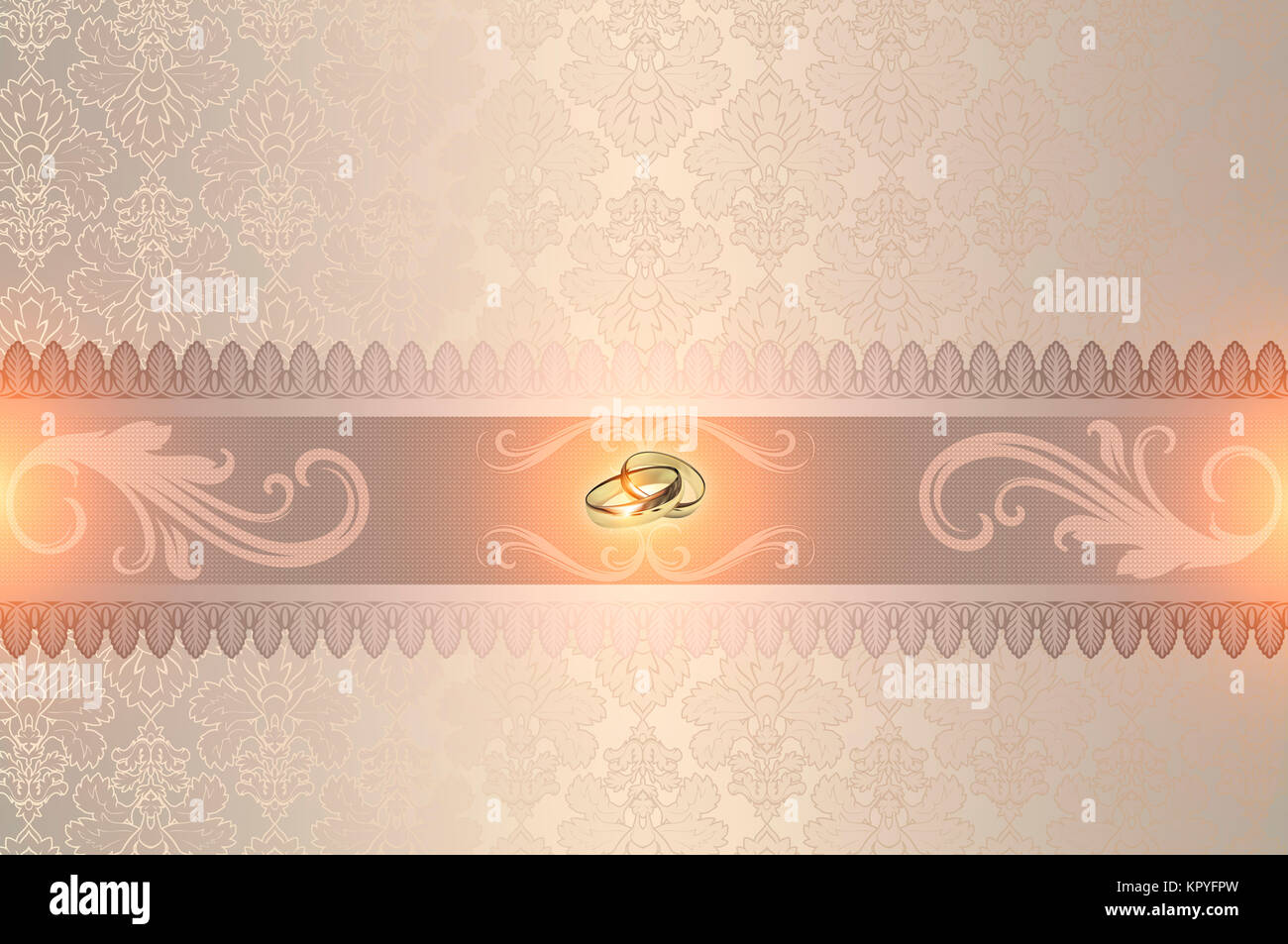 Decorative Wedding Background With Gold Rings And Elegant