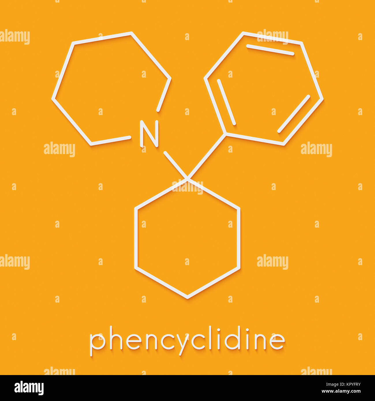 Phencyclidine Pcp Angel Dust Hallucinogenic Drug Molecule Stock