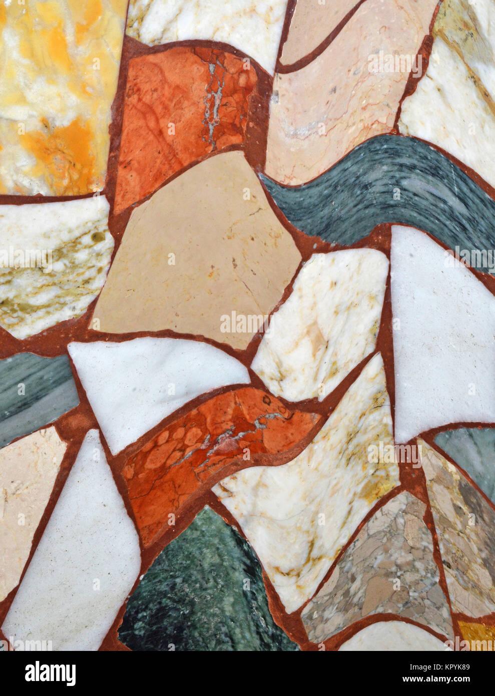stones mosaic background texture pattern - Stock Image
