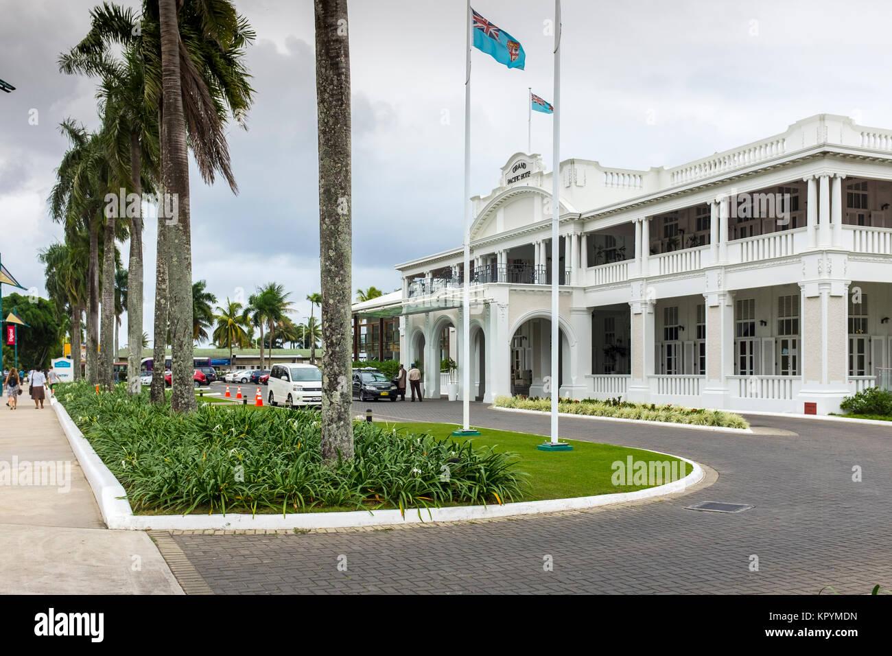 Grand Pacific Hotel Victoria Parade Suva Fiji Stock Photo Alamy