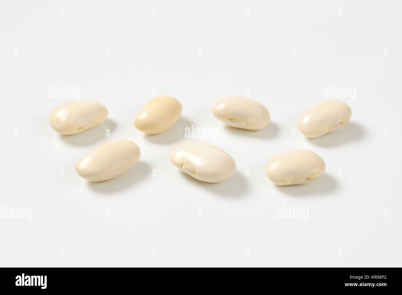 raw white beans - Stock Image
