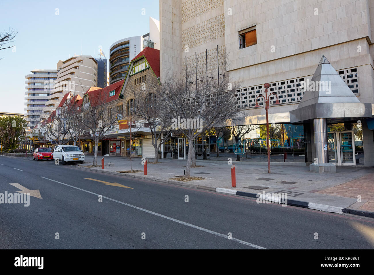Independence Ave, Windhoek, Namibia, Africa - Stock Image