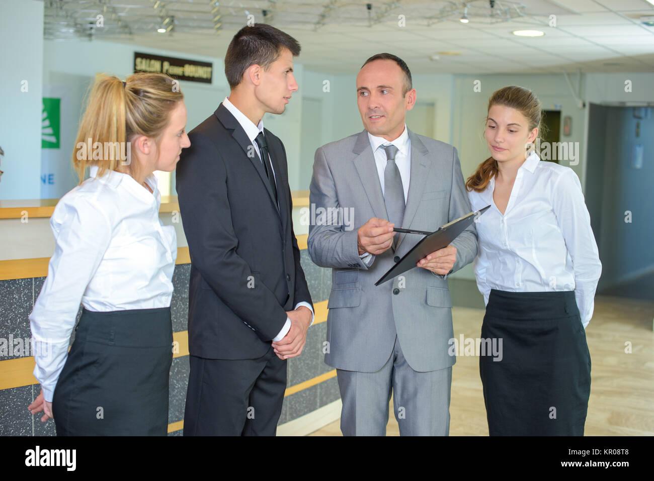 hotel management - Stock Image