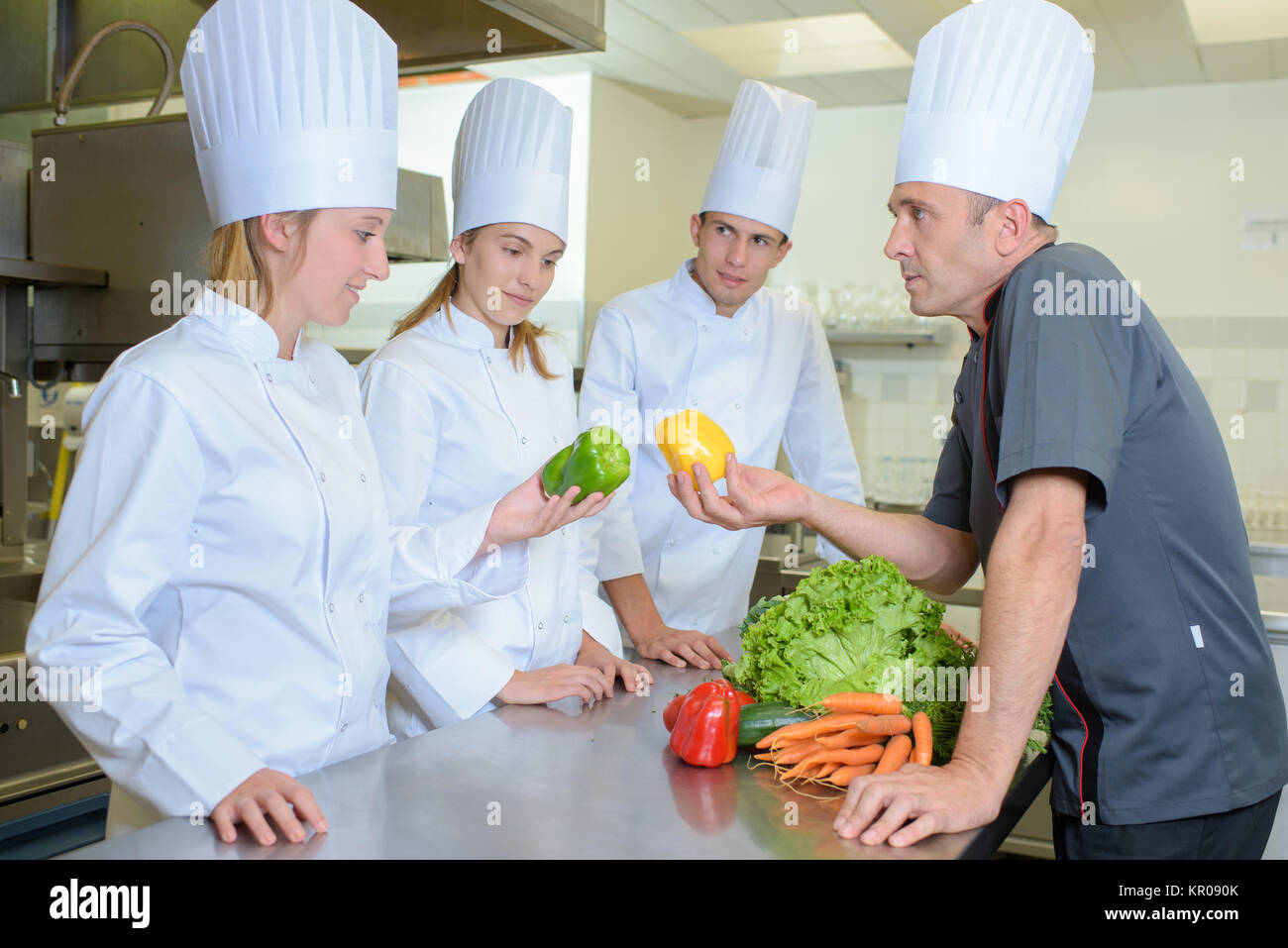 kitchen lecture - Stock Image