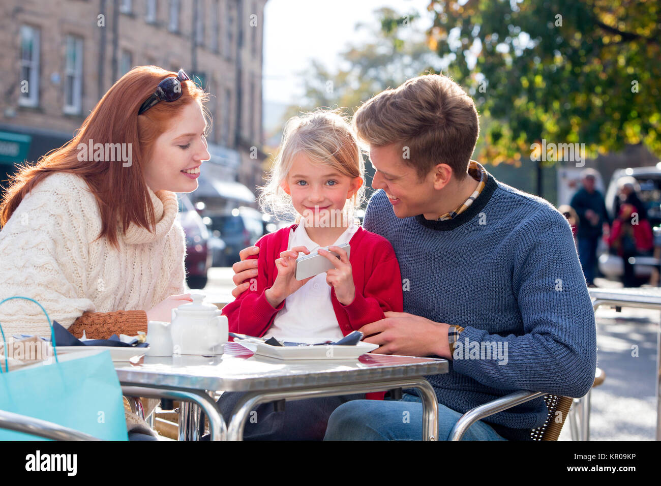 Educating Parents on Modern Technology - Stock Image