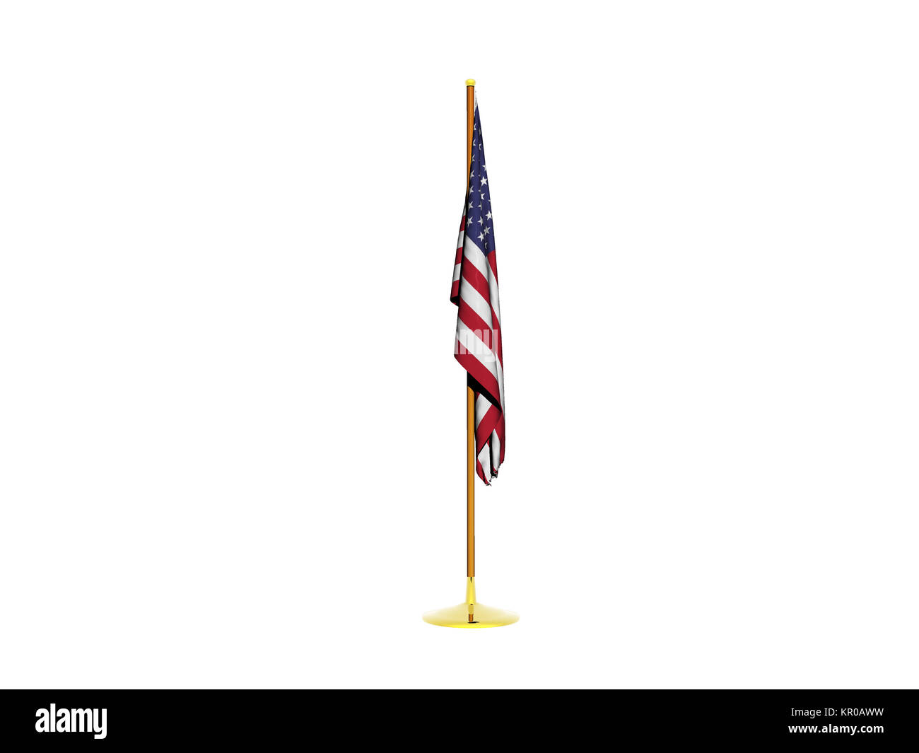 exempted flagpole with flag - Stock Image