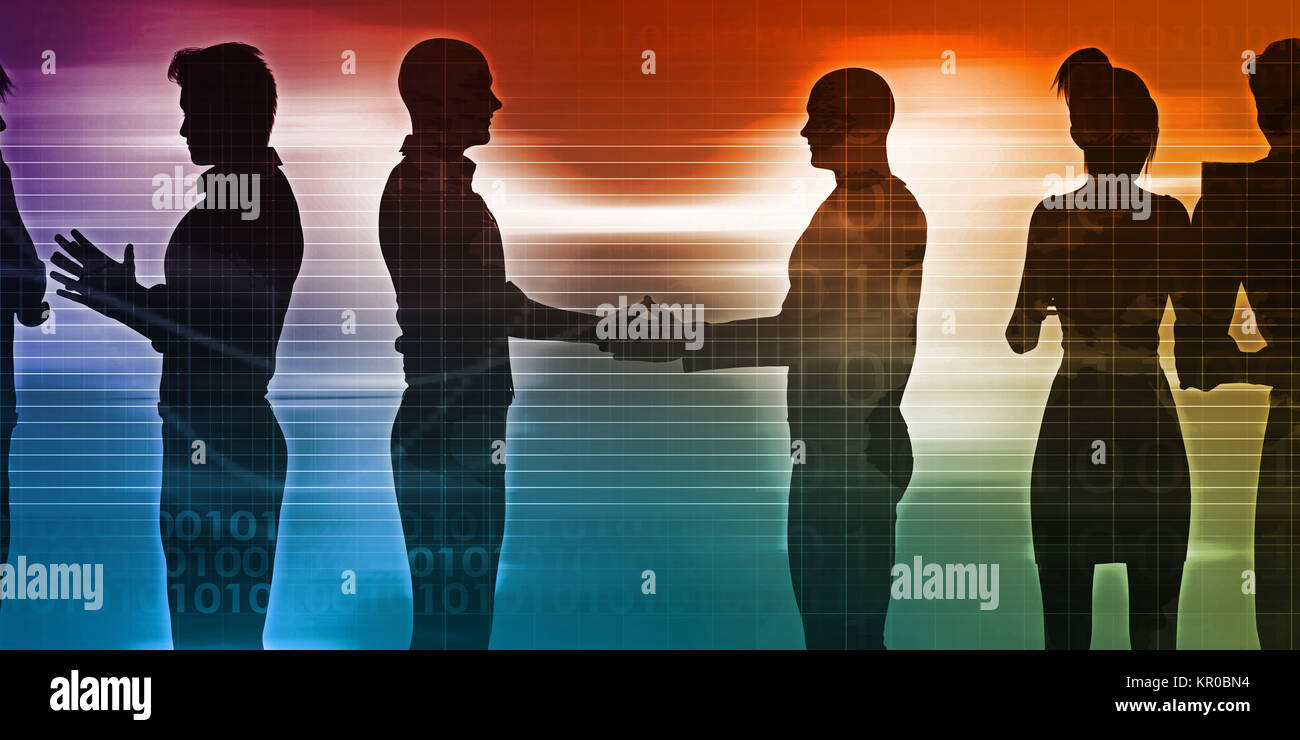 Business Networking Session - Stock Image