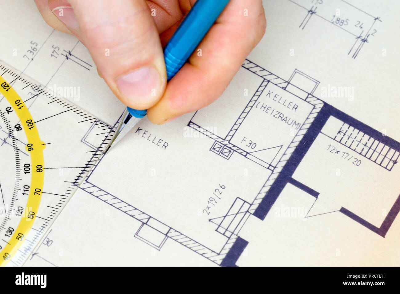 Architectural Drawing Template Stock Photos & Architectural Drawing ...