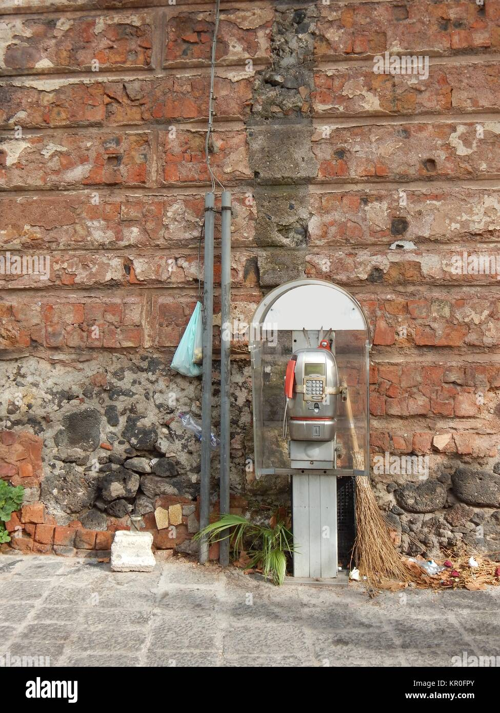open cell phone for small people seen in catania,sicily - Stock Image