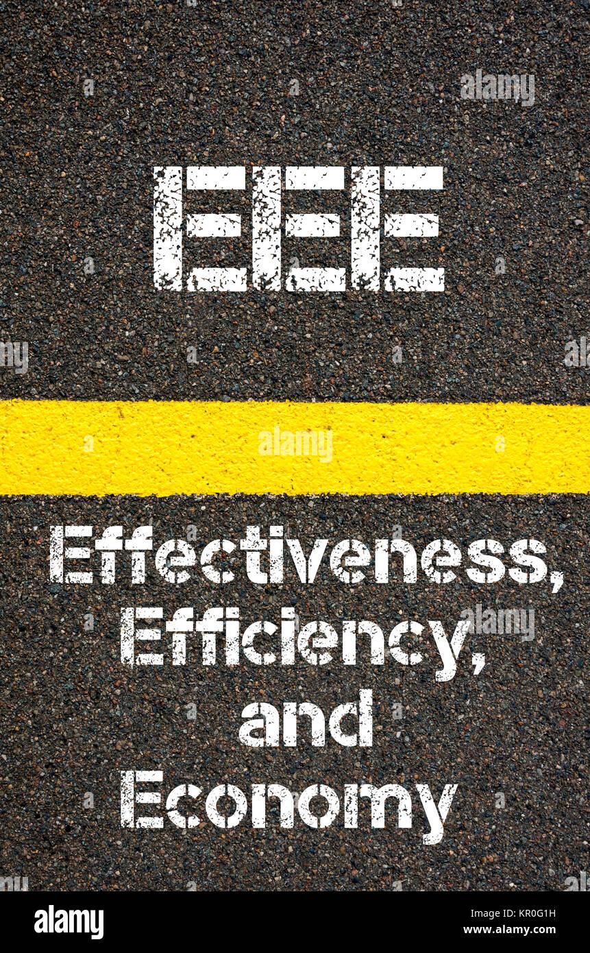 Business Acronym EEE Effectiveness, Efficiency, and Economy - Stock Image
