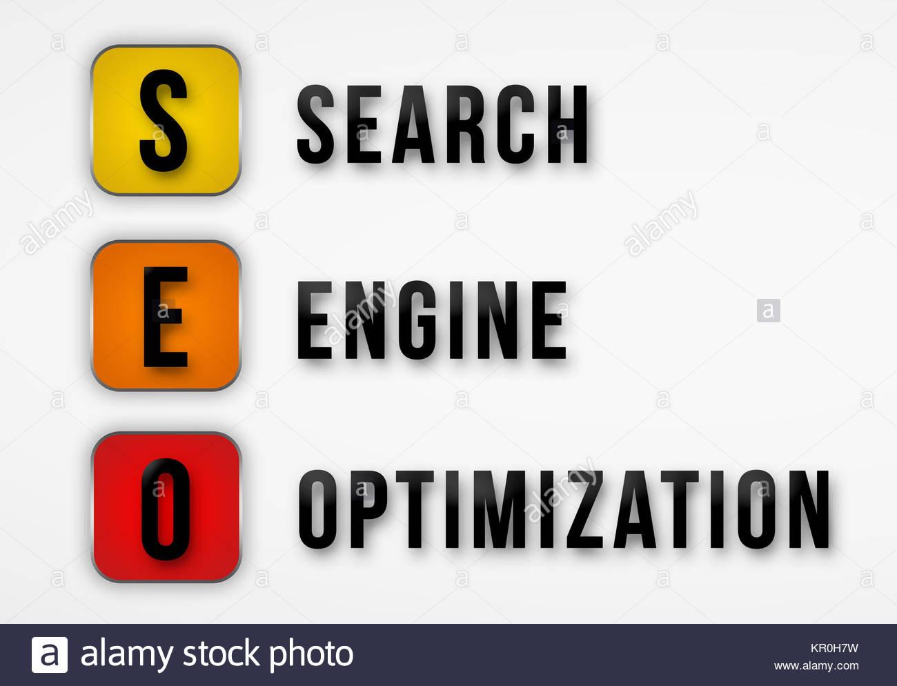 SEO - Search Engine Optimization - Stock Image