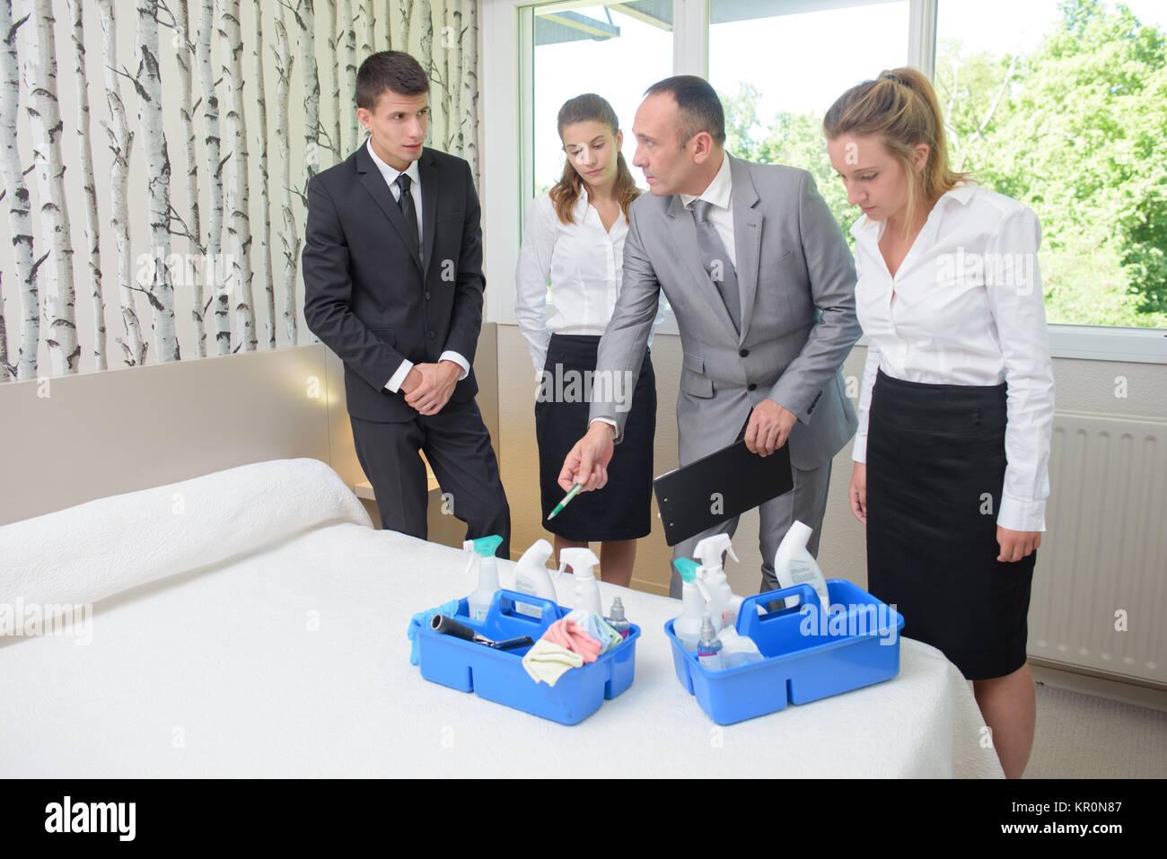 hotel room - Stock Image